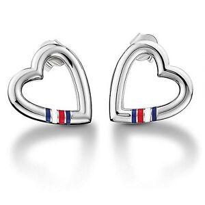 Tommy Hilfiger Women's Stainless-Steel Open Heart Stud Earrings bmPtspAyhq