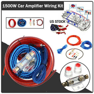 1500W-Car-Video-Audio-Amplifier-Install-Wiring-Kit-AMP-RCA-Cable-Set-Wire-Fuse