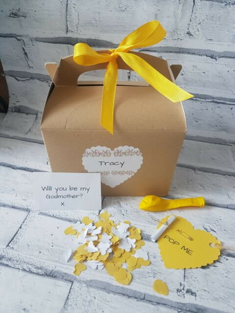 Will you be my GODMOTHER , pop the balloon,  Christening planning,