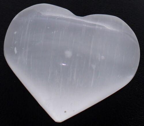 Edelstein Herz Hand-Schmeichler Selenit Gipskristall Edelsteinherz Selenit