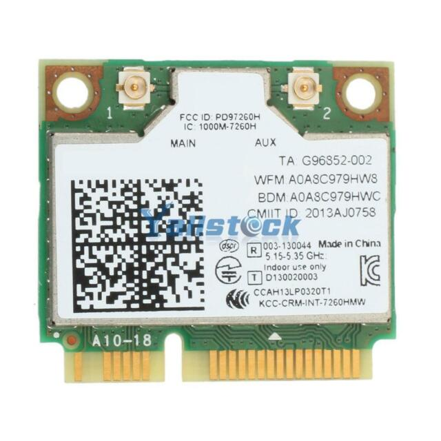 Universal Dual Band Wireless-AC 7260 876M Bluetooth V4.0 Wireless Card