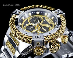 NEW-52MM-Invicta-RESERVE-Bolt-HERCULES-Silver-amp-Gold-Swiss-Chrono-Bracelet-Watch