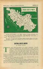 ADVERTISEMENT Bordeaux Chateau Vineyard Wine Entre Deux Mers MAP