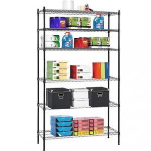 New-6-Tier-Wire-Shelving-Unit-NSF-Metal-Shelf-Rack-1500-LBS-Capacity-16-x42-x72