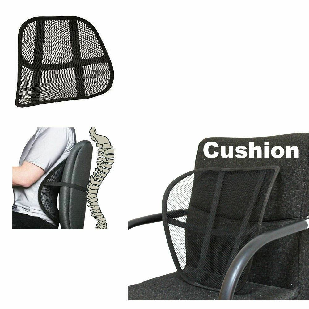 vent cushion mesh back lumbar brace support car office chair truck seat ebay. Black Bedroom Furniture Sets. Home Design Ideas