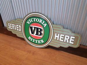 Victoria Bitter VB metal tin sign bar garage shed beer bar