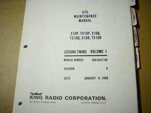 kfc 200 autopilot in cessna 310 service manual ebay rh ebay com Bendix King KFC 200 king kfc 200 manual