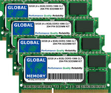 "32GB (4x8GB) DDR3 1066MHz PC3-8500 204-PIN SODIMM IMAC 27"" i5/i7 (LATE 2009) RAM"