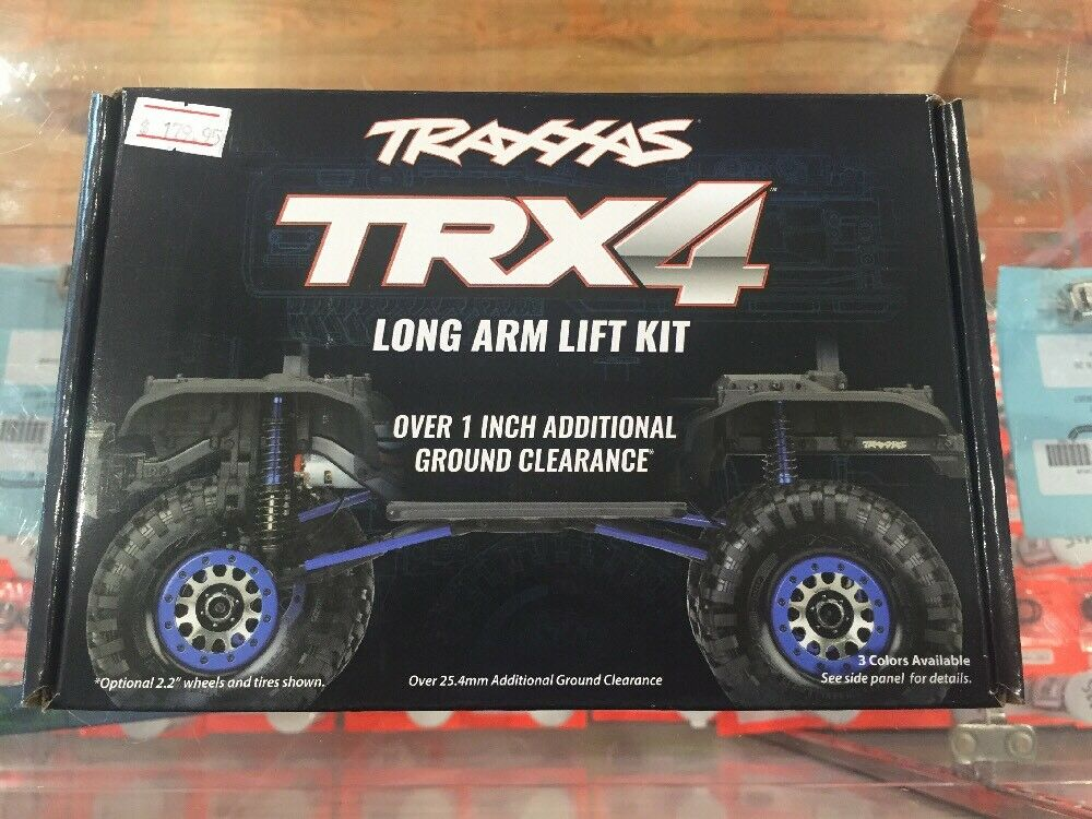Traxxas Long Arm Lift Kit, TRX-4, complete blu Part Number 8140x blu