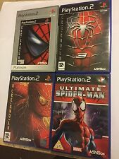 4 x COMPLETE SONY PLAYSTATION 2 PS2 SPIDER-MAN GAMES 1 2 3 & ULTIMATE SPIDERMAN