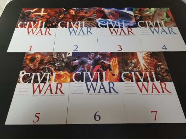 Civil War #'s 1-7 2006 Marvel Comics Captain America Iron Man 1st Prints