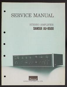 Sansui-au-8500-Original-Stereo-Amplifier-AMPLIFIER-SERVICE-MANUAL-Diagram-O151