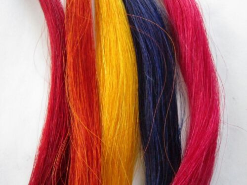 1 OZ DYED HORSE HAIR CRAFTS CHOOSE FROM RAINBOW OF COLORS POW WOW