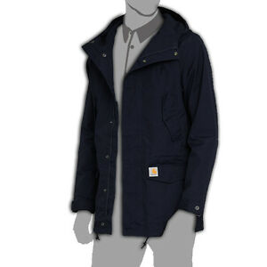 Carhartt WIP Men's Hooded Battle Parka Military Coat Jacket Dark ...