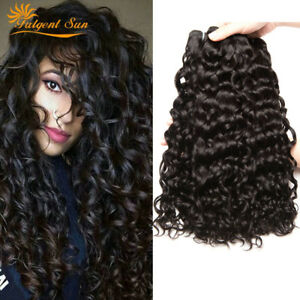 Image Is Loading 9a Brazilian Water Wave Virgin Curly Hair Wet