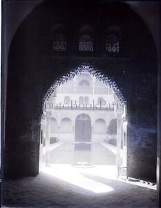 ESPAGNE-Andalousie-Grenade-Alhambra-NEGATIF-Photo-Stereo-Plaque-Verre-VR7L1