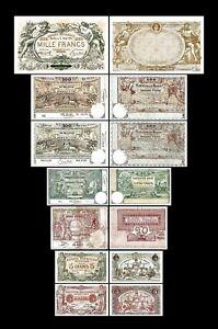 Bélgica -   2x 5 - 1.000 Francs  - Edición 1914 - 1921 - Reproducción - B 20