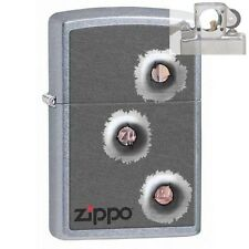 Zippo 28870 bullet holes Lighter with PIPE INSERT PL