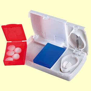 Distributeur-de-medicaments-pillendose-avec-Coupe-Comprimes-Splitter-pilule