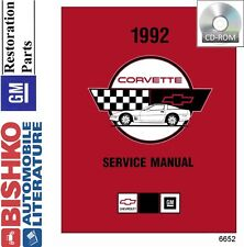1992 Chevrolet Corvette Shop Service Repair Manual CD