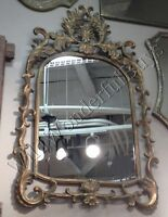 "Ancathus Leaf Wall Mirror Antique Gold 47"" Large Vintage French Style Ornate New"