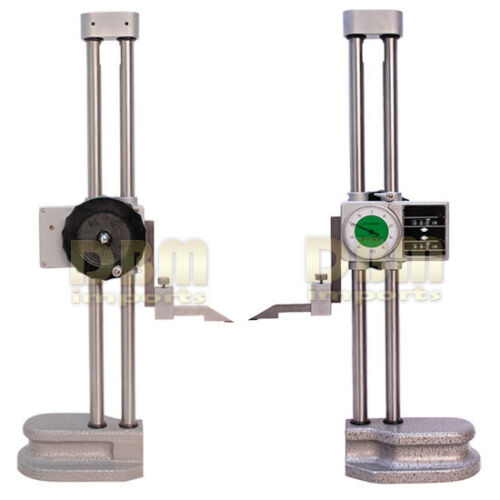 """Double Dual Twin Beam 12/"""" Dial HEIGHT GAGE .001/'/' Digital Digit Counter Gauge"""