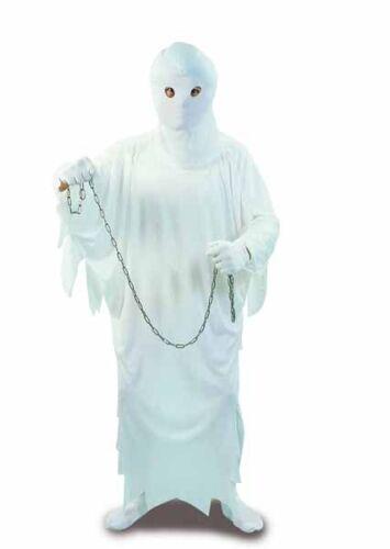 Costume vestito fantasma con cappuccio carnevale halloween adulto uomo 90205e
