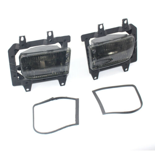 2x Front Fog Light ABS Plastic smoke Lens For 85-93 BMW E30 3-Series Sedan Model