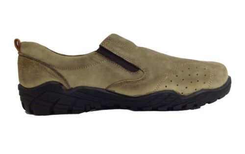 Mens Gents Azak Cuir Casual Sport Marche Running Slip On Baskets Chaussures Taille