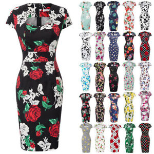 GK-Women-039-s-Bodycon-Dress-Vintage-Printed-Casual-Cap-Sleeve-Slim-Zipper-Dresses