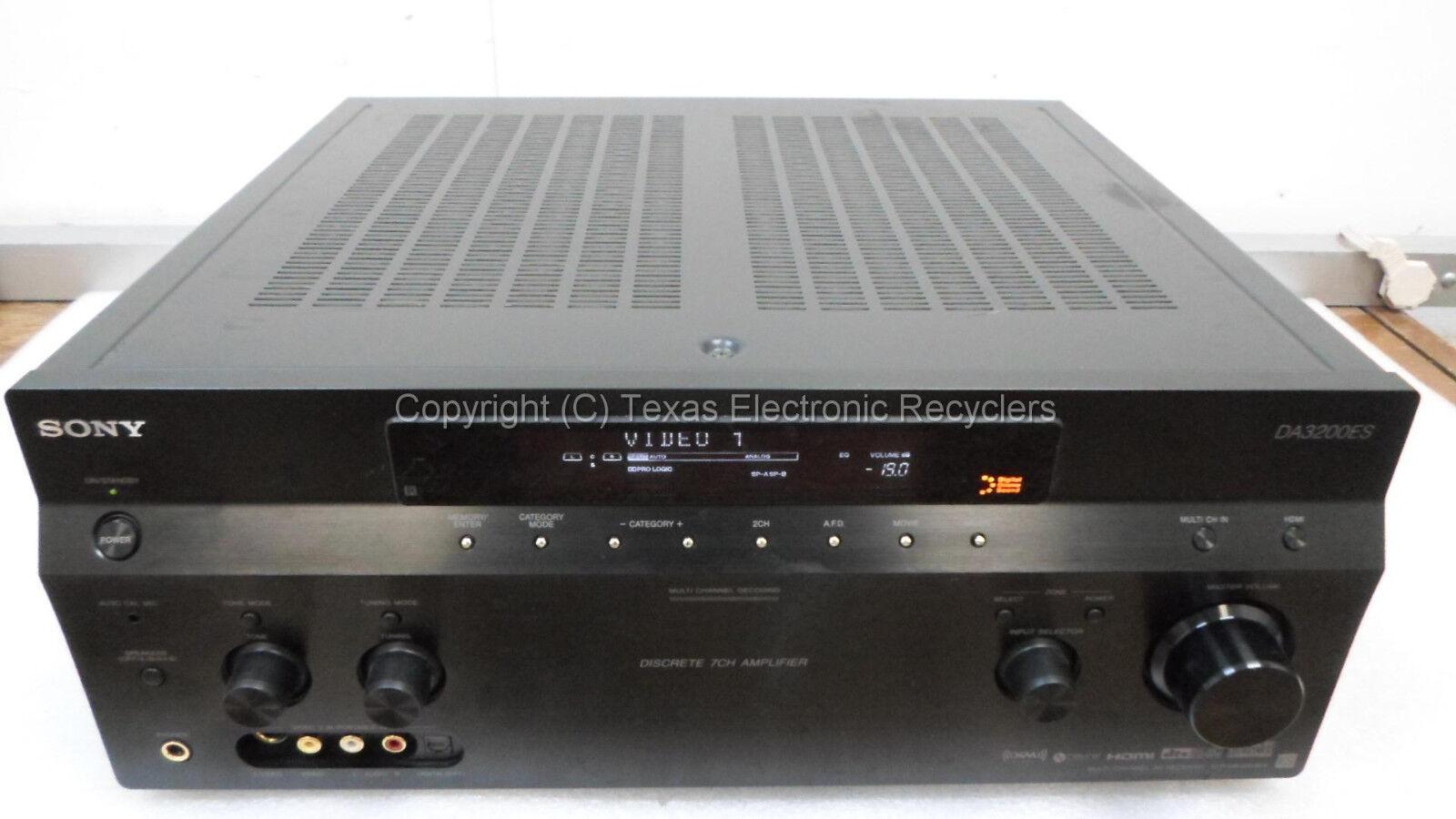 PARTS OR REPAIR - Sony DA3200ES STR-DA3200ES Multi Channel AV Receiver