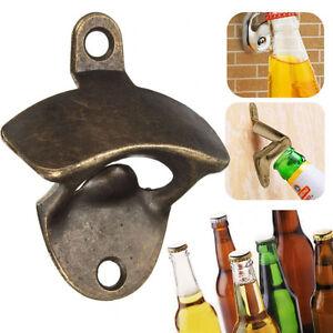 Image Is Loading Metal Bottle Opener Vintage Bronze Wall Mounted Wine