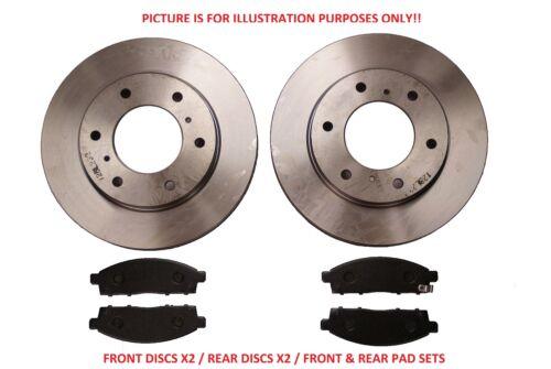 arrière disques de frein//pad set pour nissan patrol Y60 2.8TD//4.2D 8//1988 /> sur Avant