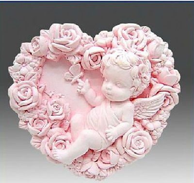 Silicone Angel Baby Fondant Mould Cake Wings DIY Baking Wedding Mold Decor BL3