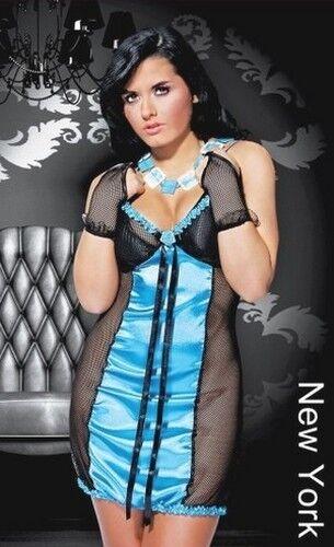 Belle New York Nuisette Bleue Sweet Dreams Lingerie Taille 36, 38 Ou 40 Riche En Splendeur PoéTique Et Picturale