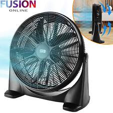 "20"" Floor Fan High Speed 3 Setting Adjustable Air Circulator Cooling Hydroponics"