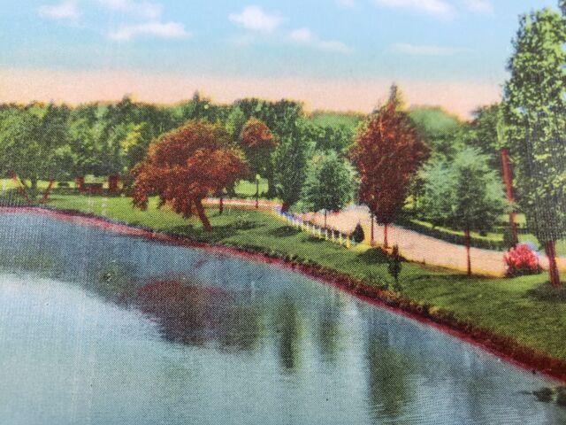 C 1930s Yettie Polk Park Belton Texas River Linen Vintage ...