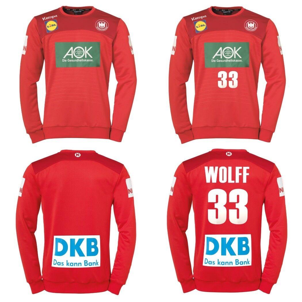 Kempa DHB Torwarttrikot Deutscher Handballbund WM 2019 rot auch mit Wolff 33    Internationale Wahl