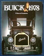 PROSPEKT BROCHURE 1978 Buick Regal * Electra Riviera * * Skyhawk (USA) - 76 pag.!