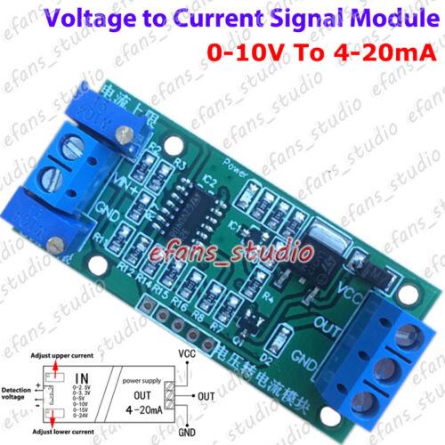 Voltage to Current Transmitter Signal Conversion Module 0~24V 3.3V 5V to 4-20mA