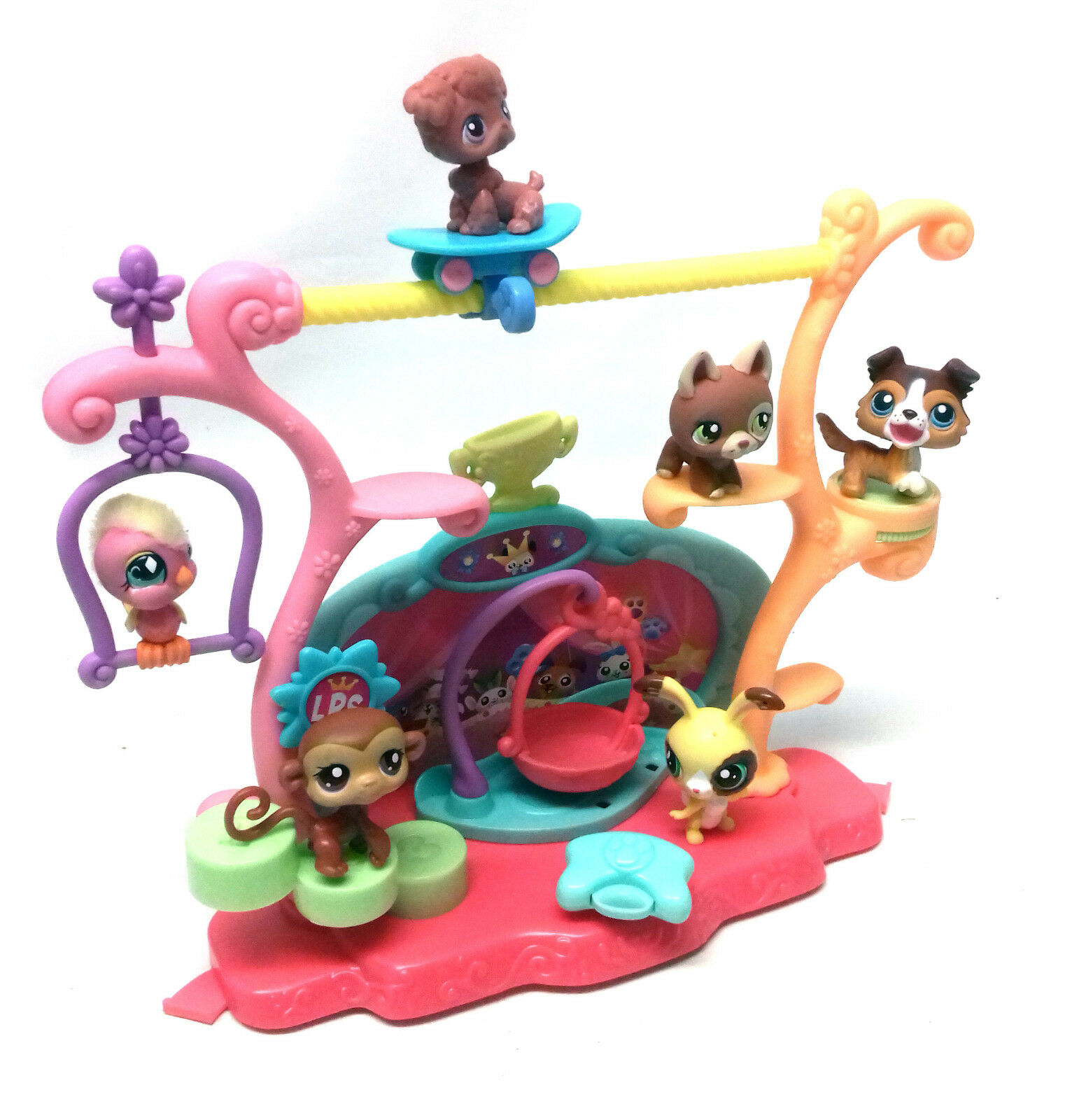 THE LITTLEST PET SHOP animal toy figures playset accesory set lot, NICE