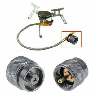 1LB Adapter Camping Propane Small Gas Tank Adapter Input Lindal Output Stove New