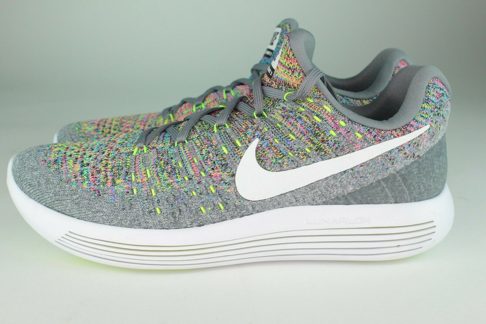 3f8d10b7aed3d Nike Lunarepic Low Flyknit 2 Mens Running Shoes 8.5 Cool Grey White ...