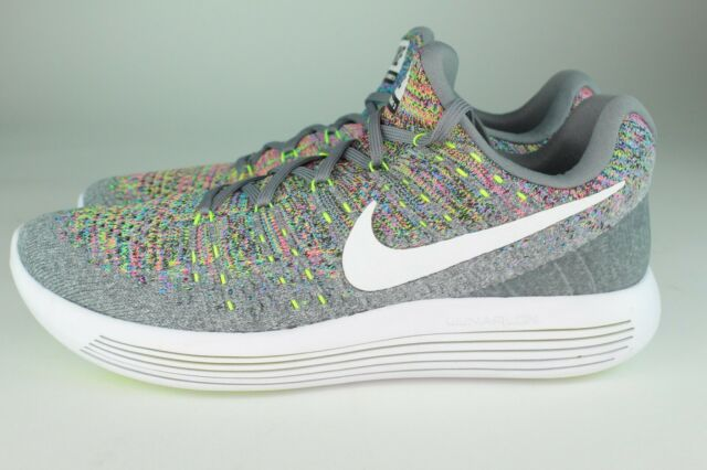the latest e1be8 5b3ff Nike Lunarepic Low Flyknit 2 Mens Running Shoes 8.5 Cool Grey White 863779  003