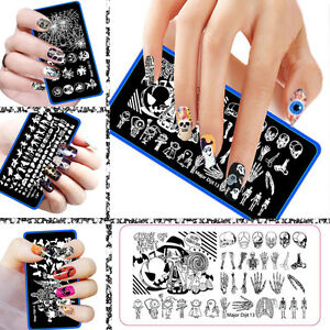 Halloween-Manicure-Template-Nail-Art-Image-Stamping-Polish-Print-Plate-Stamper