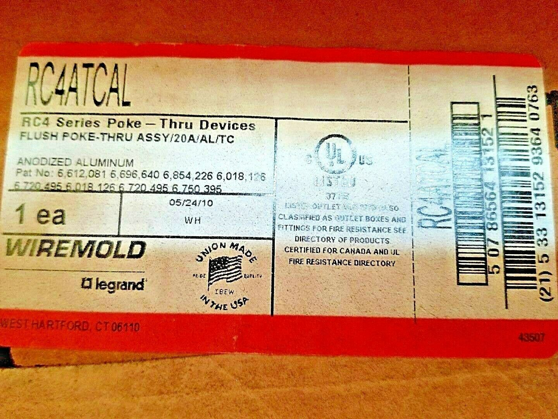 "NEW Legrand Wiremold RC4ATCBK Poke-Thru Assembly 8-1//4/"" Diameter *OPEN BOX!*"