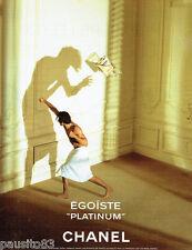 PUBLICITE ADVERTISING 026  1997  Chanel parfum Egoiste Platinium pour homme