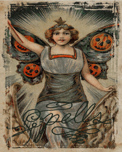 Halloween Spells VINTAGE ADVERTISING ENAMEL METAL TIN SIGN WALL PLAQUE