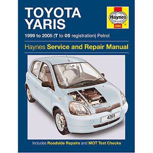 HAYNES-TOYOTA-YARIS-1999-TO-2005-T-TO-05-REG-PETROL-SERVICE-AND-REPAIR ...