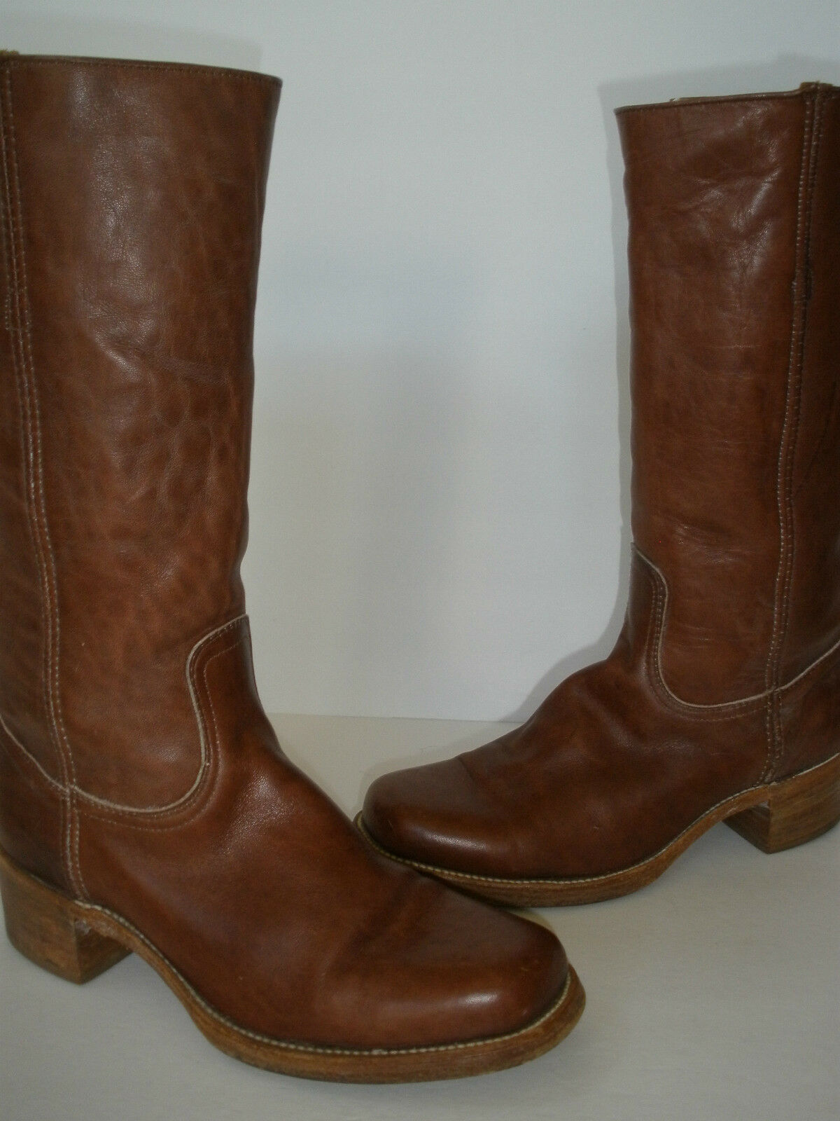 FRYE LEATHER WESTERN HOT BOOTS size US 9.5 HOT WESTERN MADE IN USA MUST HAVE WOW f3ce72